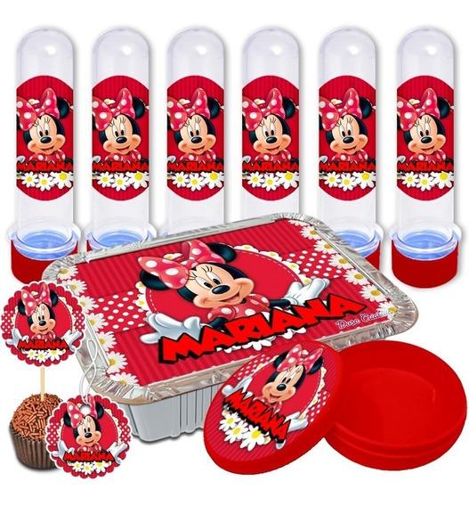 Adesivos Personalizados Lembrancinha Minnie 150 Peças