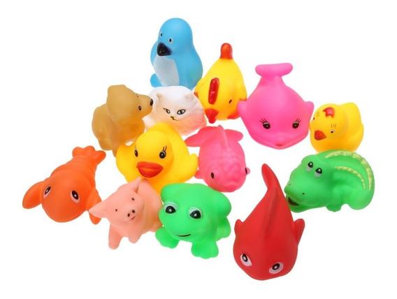 Kit Brinquedos Para Banho Bebê 13 Peças Bichinhos Mordedor