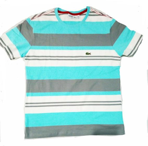 Novas Camisa Lacoste Listrada Live Oakley Masculina