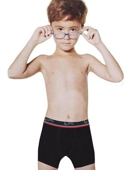 Kit Com 10 Cuecas Algodão Boxer Masculina Infantil Lupo.