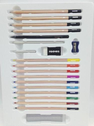 Set Completo Reeves Lapices Bosquejos X23 Piezas