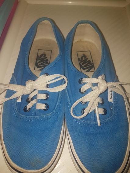 Zapatos Azules Vans Originales