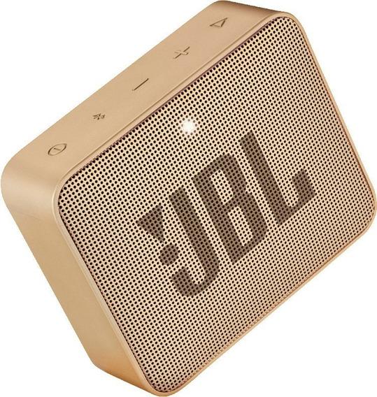 Caixa De Som Jbl Go 2 Dourado Portátil 3w Original Bluetooth