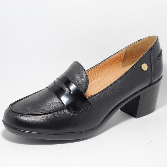 Zapatilla Manet Formal Negro 100% Piel
