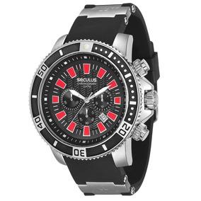 Relógio Masculino Cronógrafo Seculus 20274g0svnu1 - Preto