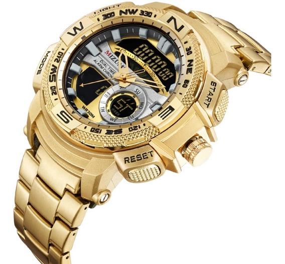 Relógio Masculino Mizums 8007 Luxo Calendário Completo