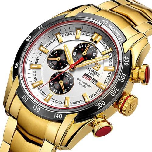 Reloj Rey Midas Cronógrafo Chapado Oro 10kilates | Seminuevo