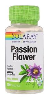Passiflora Importada Solaray 350mg P/cápsula C/100 Calmante