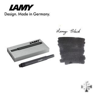 Cartucho Para Pluma Fuente Lamy T10. Tinta Negra (5 Pzas)