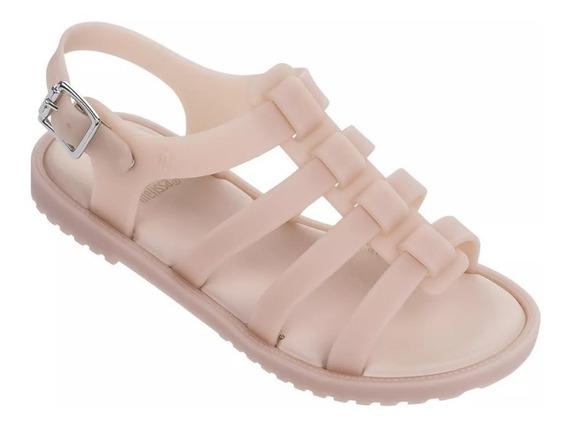 Melissa Mel Flox Infantil Original Preta/rosa/nude