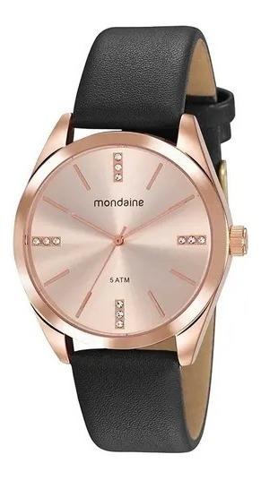 Relógio Mondaine Com Caixa Cobreada Em Metal