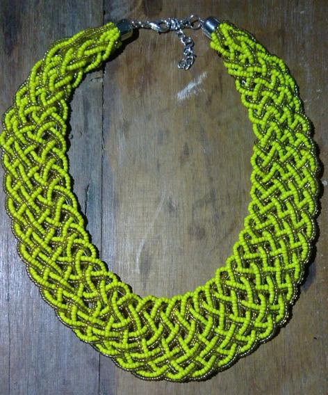 Gargantilha Artesanal Amarelo