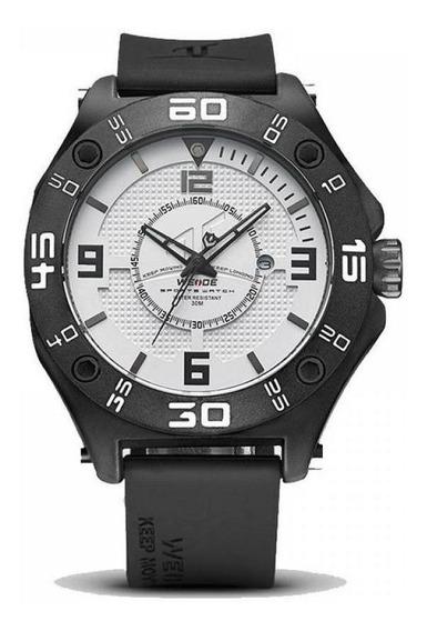 Relógio Masculino Weide Analógico Uv-1502 Preto E Branco