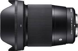Imagem 1 de 9 de Sigma 16mm F/1.4 (novo) Sony Dc Dn E-mount Sony Envio Rapido