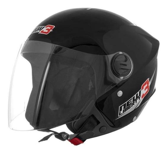 Capacete para moto aberto Pro Tork New Liberty Three preto tamanho 58