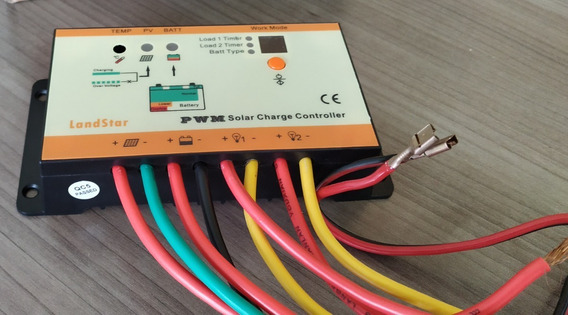 Controlador De Carga 10a Energia Solar, Bateria