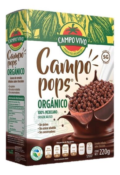 Cereal Orgánico Campo Pops 220g. Campo Vivo