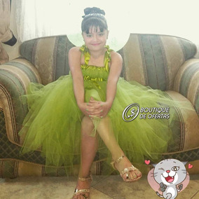 Vestido De Princesa Tinkerbell En Oferta!!!