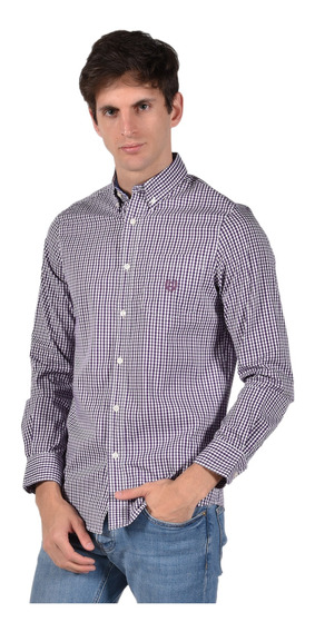 Camisa Stretch Fit Chaps Violeta 750722895-34jy Hombre
