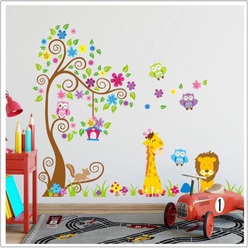 Stickers Adhesivos Vinilos Mural Animalitos Bebé Niños