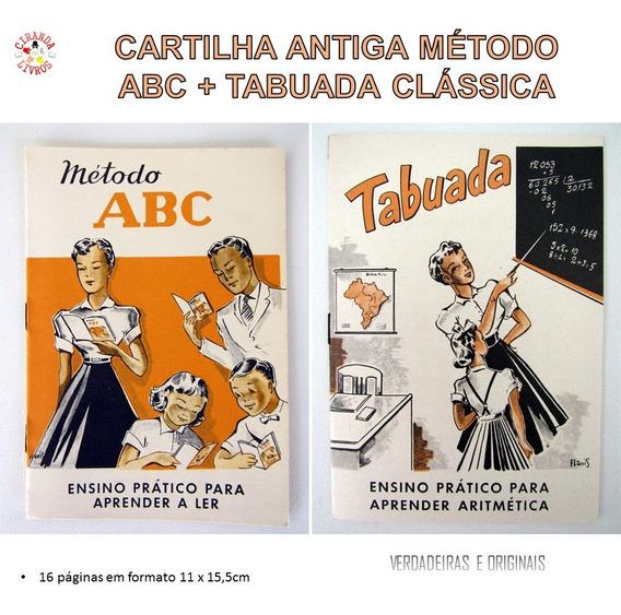 Metodo Abc + Tabuada Clássica | Frete Grátis Via Carta