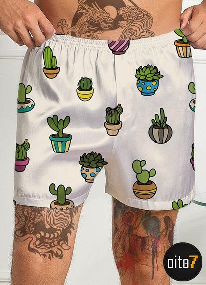 Cueca Samba Canção Cacto Cactus Vaso Cool Planta Swag Flor