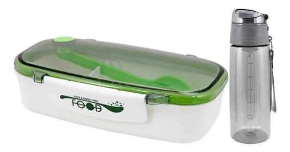 Marmita C/ Colher E Garrafa Squeeze Jacki Design Verde