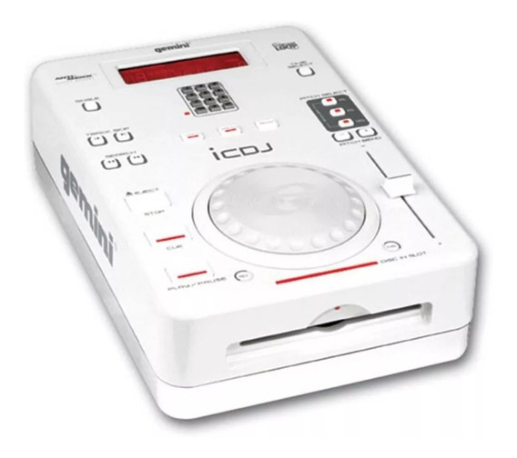 Cdj Gemini Icdj White Pitch Control Loop Saida Digital Cd-r