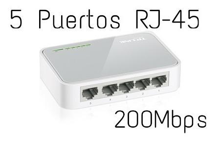 Switch 5 Puertos Tp-link Tl-sf1005d 200mbps. Conexión Rj-45