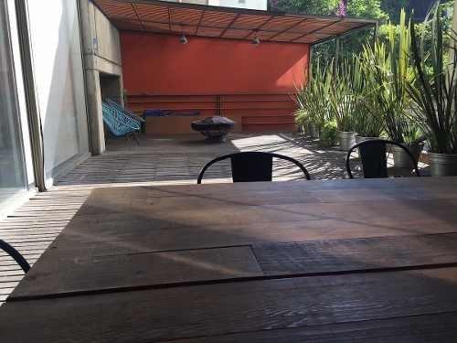 Departamento En Renta Col. Condesa Con Hermosa Terraza
