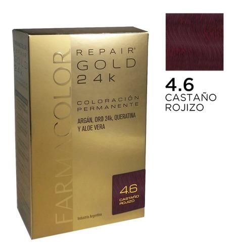 Farmacolor R Gold Cast. Rojizo N°4.6 X 1estuche. De Fábrica.