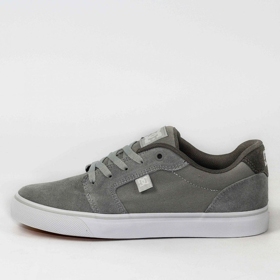 Tênis Masculino Dc Shoes Anvil La Cinza/branco Original