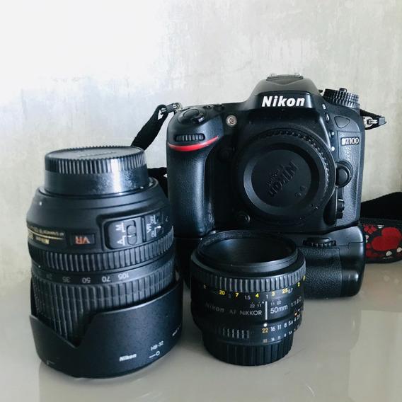 Câmera Fotográfica Nikon D7100 + Lentes + Acessórios