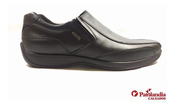 Zapatos Hombre Oxigeno Off Elástico Cuero Negro N° 39 / 45