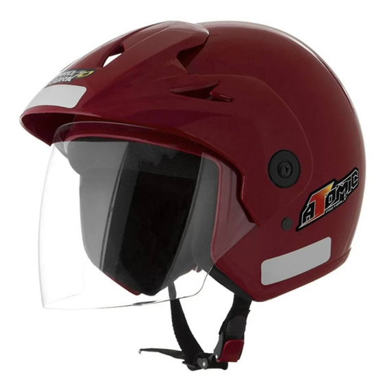Capacete para moto aberto com viseira Pro Tork Atomic vermelho tamanho 60