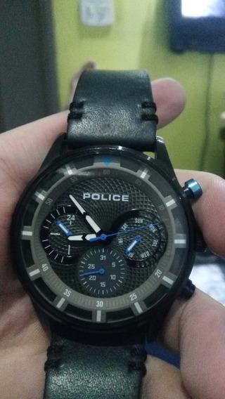 Relógio Police Com Pulseira De Couro Original
