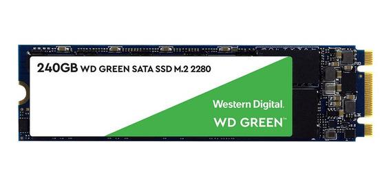 Ssd M.2 240gb Western Digital Green 540mbps Note Gamer