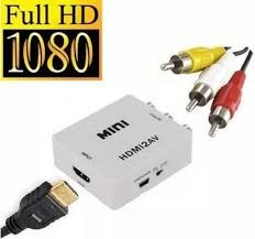 Convertidor Video Hdmi A Rca Av Tv Antigua Nuevo Y Garantia