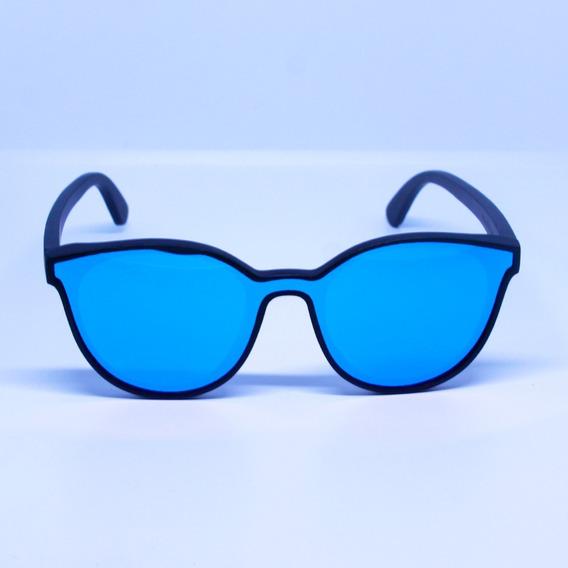 Lentes De Sol Bamboo Surfos Polarizado Azul Hombre / Mujer