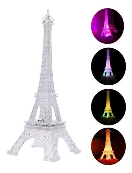 Centro De Mesa Torre Eiffel Con Luz 20cms