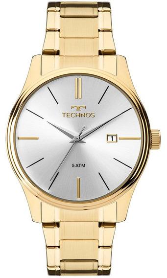 Relógio Technos Masculino Classic Steel 2115mpn/4k