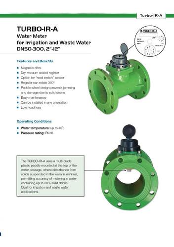 Medidor Aguas Residuales Negras Irrigacion Macromedidor 2p