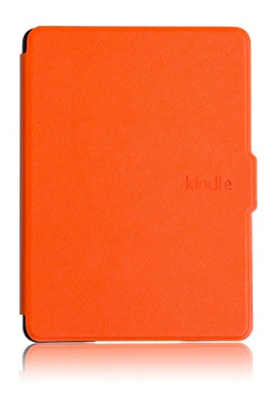 Capa Case Novo Kindle 10ª G. Laranja + Película + Caneta Touch