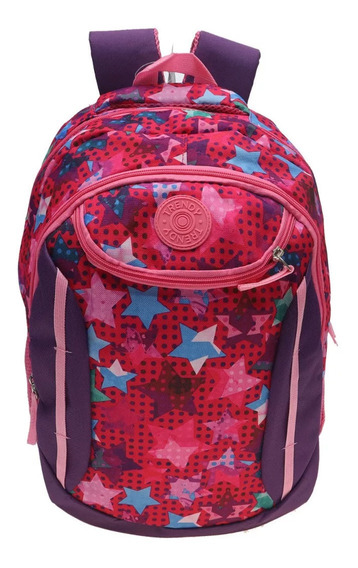 Mochila Escolar Urbana Colores Grande Trendy 8016