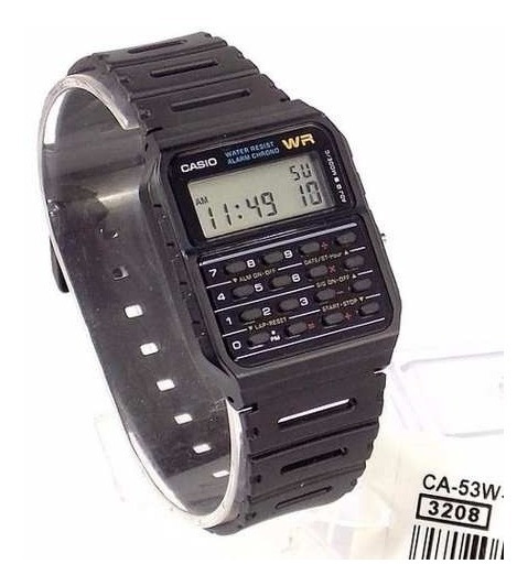 Relógio Casio Ca-53w-1z Calculadora Data Bank Original