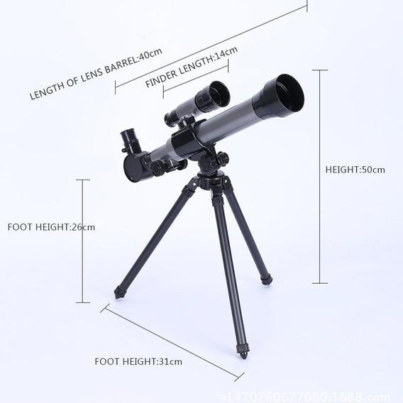 Telescópio Astronômico Monocular Com Tripé Portátil