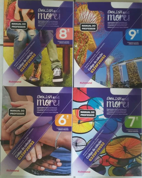 English And More Pnld 2020 4 Volumes Manual Do Professor