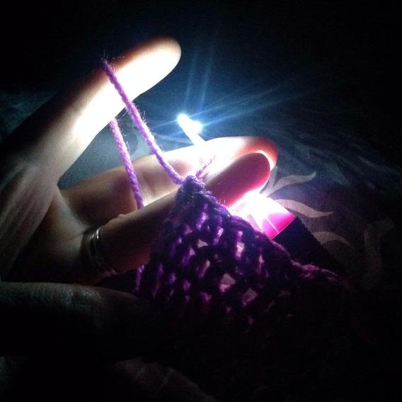 Aguja Crochet Lite Con Luz 6.0 Mm Full