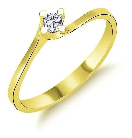 Anel Ouro 18k Noivado Solitario Debutante 15 Anos Com Diamante Feminino Ouro Branco Ouro Amarelo Ouro Rosa 750 Casamento