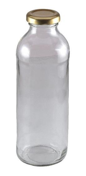 12 Botellas Vidrio Jugo 500cc C Tapa Rosca Candy Souvenir